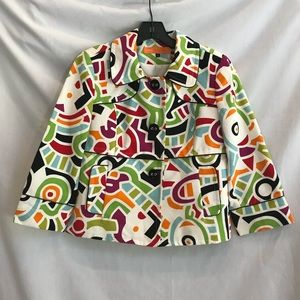Cynthia by Cynthia Steefe printed jacket size 8